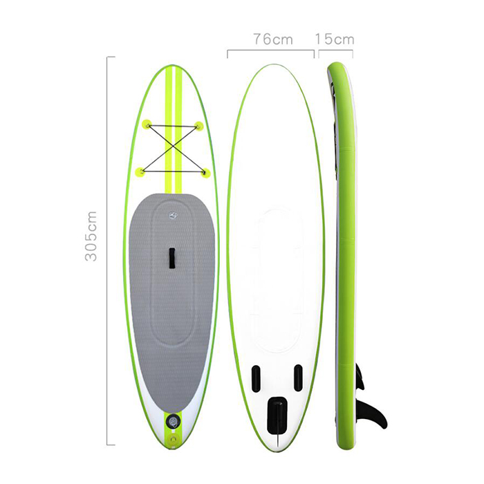 10` Dual Chamber Inflatable Drop Stitch Surfboard Blue Ray SUP board